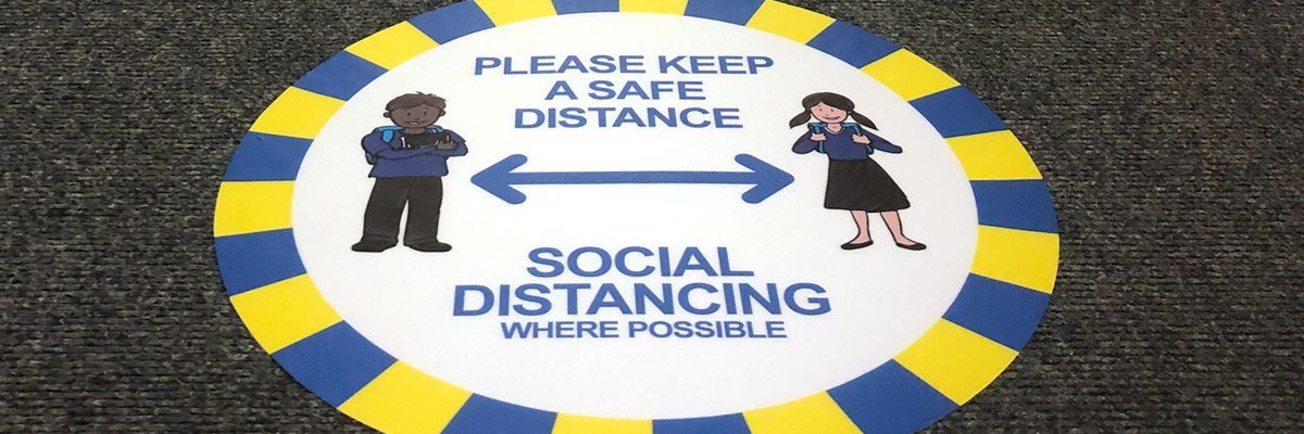 Social Distancing Signage for Schools
